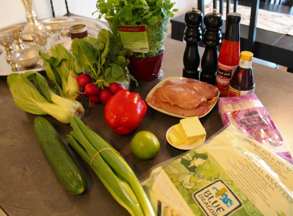Vårruller - ingredienser