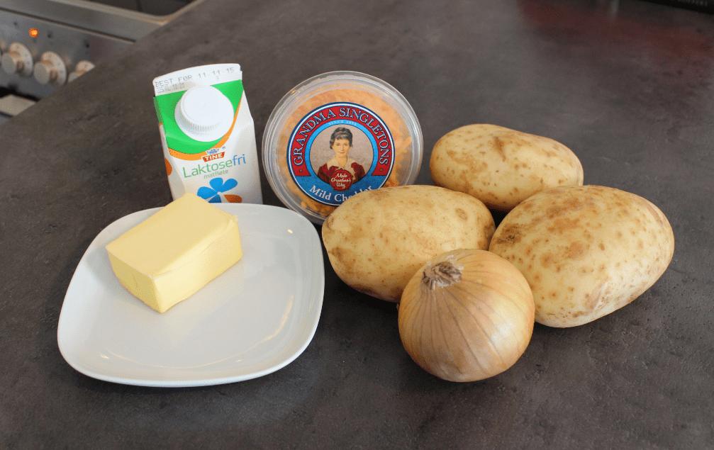 Dobbelbakte poteter - ingredienser