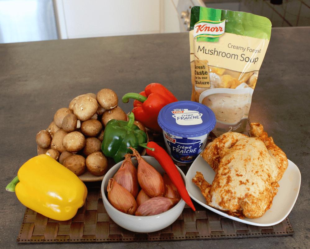 Kyllinggryte - ingredienser