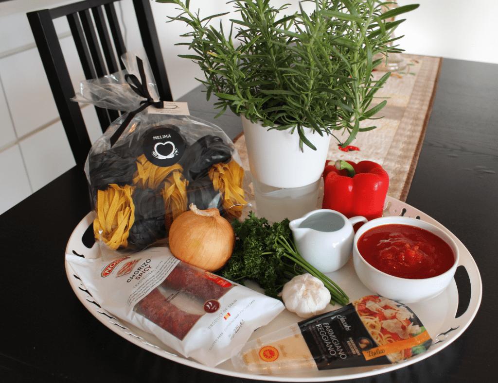 Pasta chorizo - ingredienser
