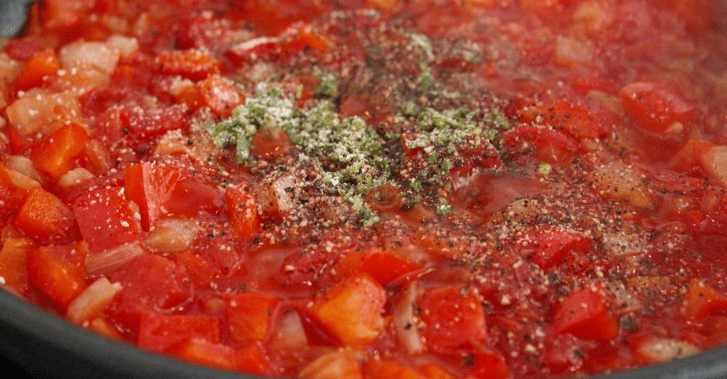 Pasta chorizo - småkoke