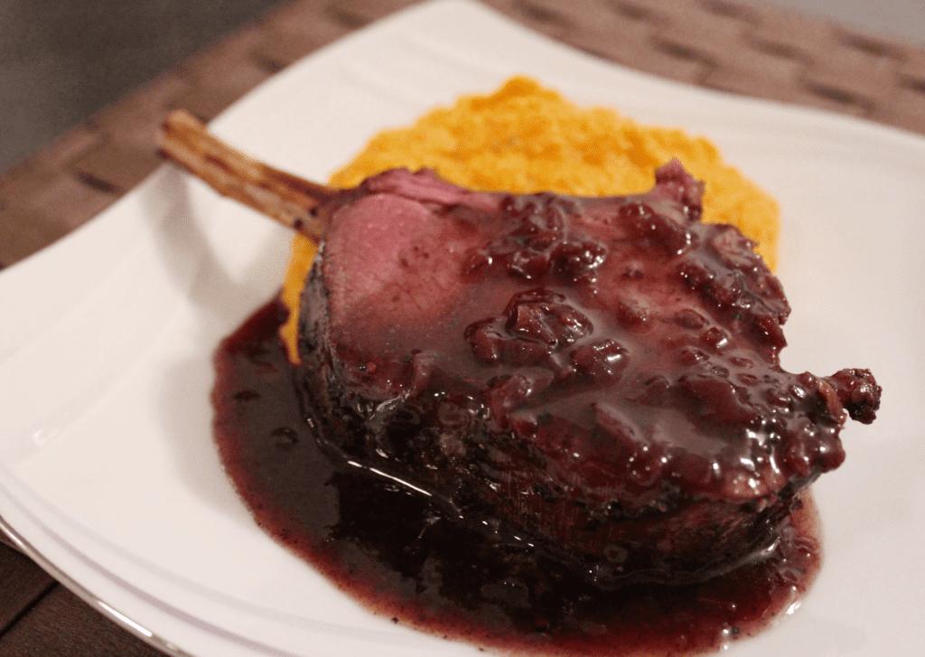 Hjortecarré - klar for servering