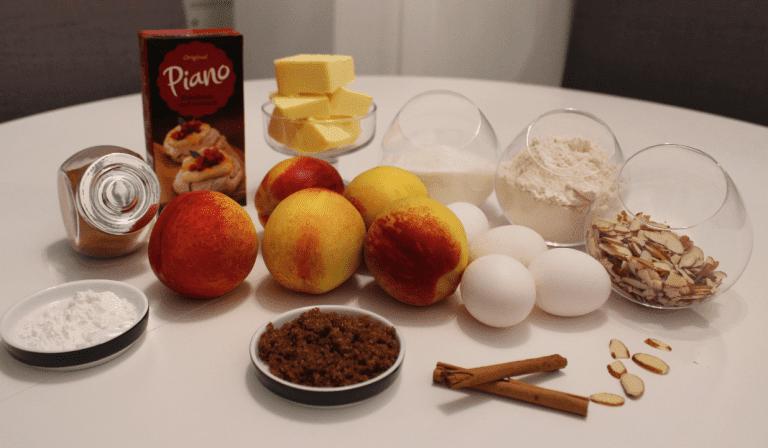 Kake med nektariner og romkrem - Ingredienser