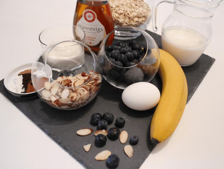 Sunne Muffins - Ingredienser