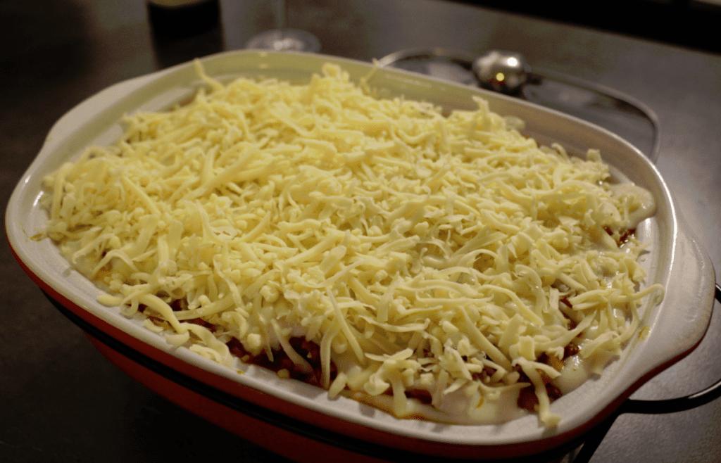 Lasagne - klar for ovnen