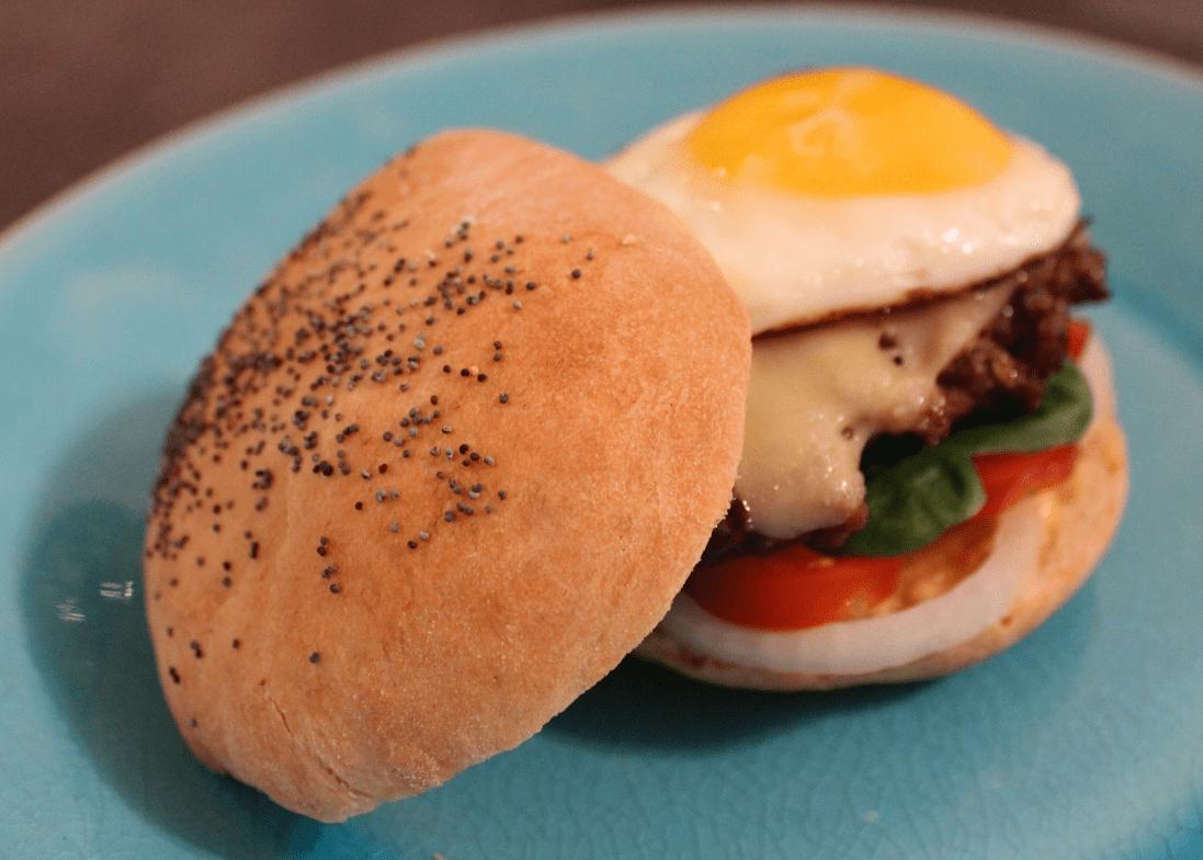 Hamburgerbrød - servert