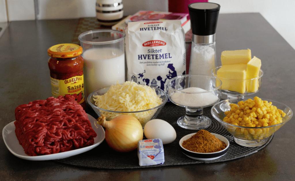 Tacohorn ingredienser