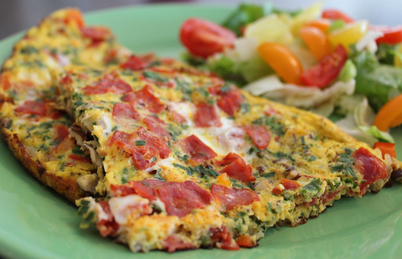 Omelett - servert