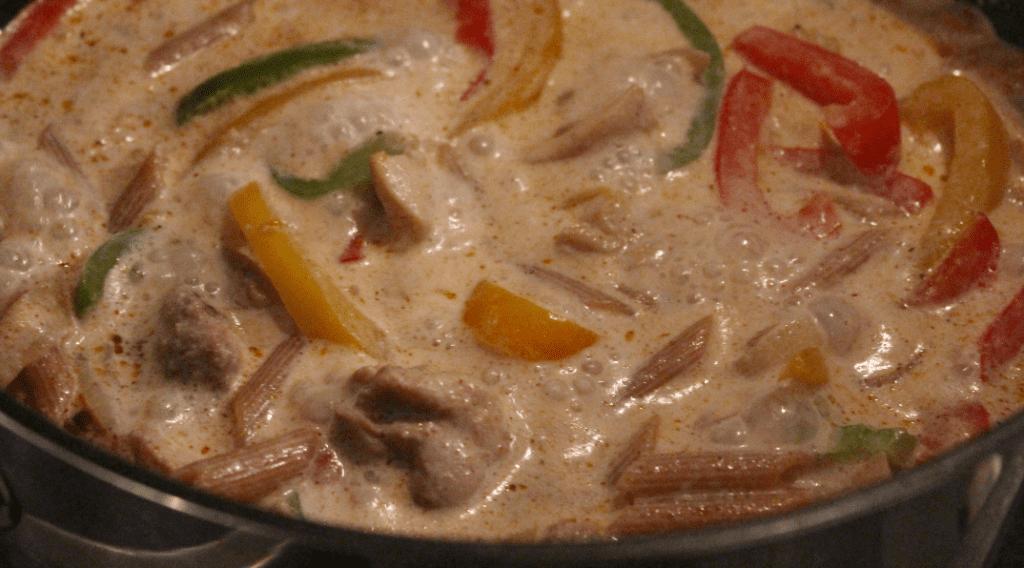 One pot pasta - serveringsklar