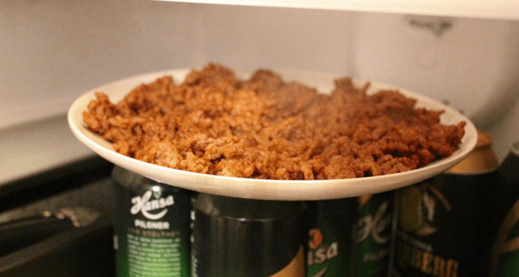 Tacosalat avkjøl stekt kjøtt