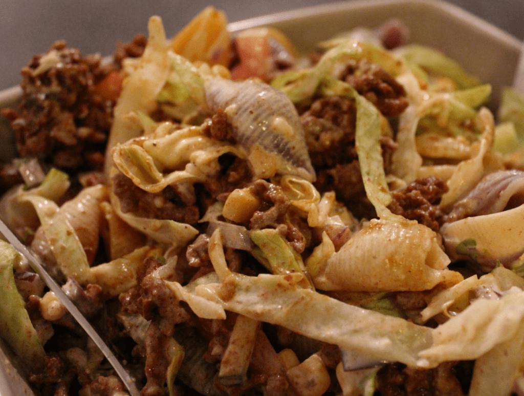 Tacosalat klar til å spise