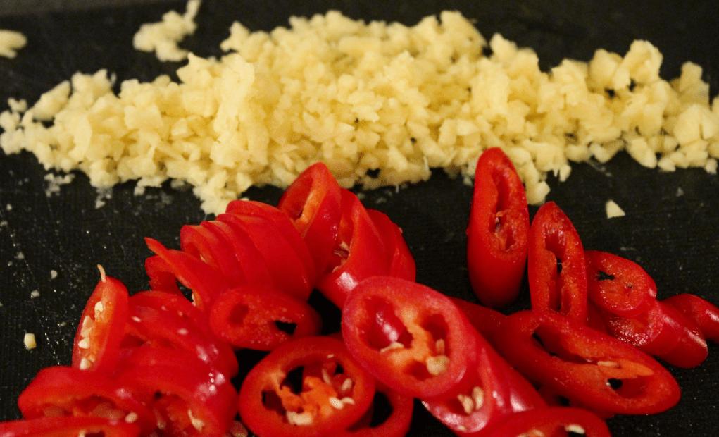 Japansk biffsuppe - ingefær og chili