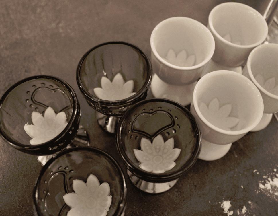 3D blomster kakepynt