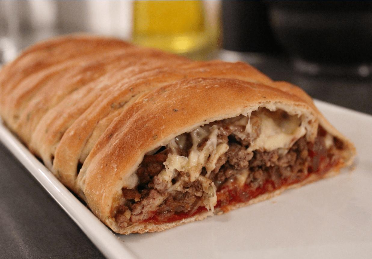 Flettepizza - servert