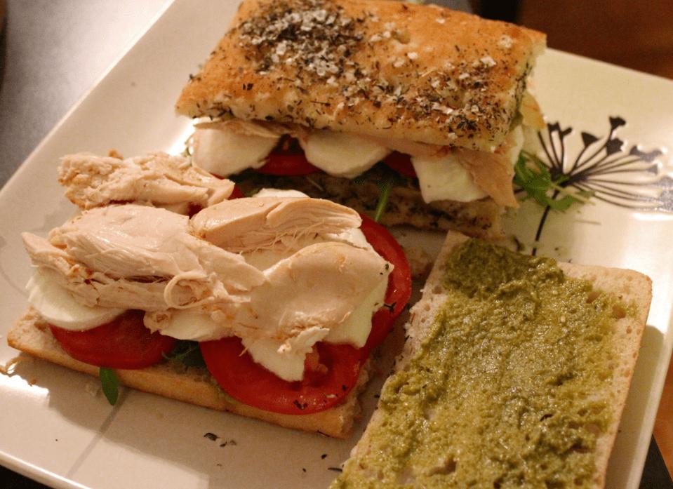 Focaccia - smør på