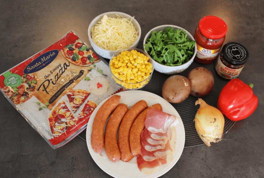 Juksepizza - ingredienser
