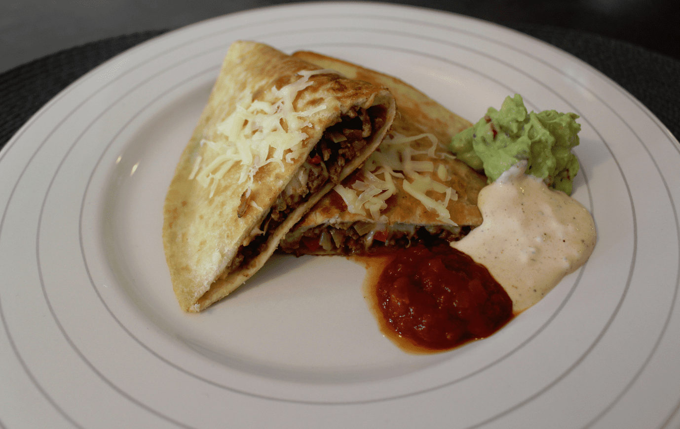 Quesadilla - servert