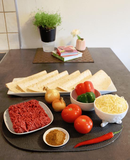 Quesadilla - ingredienser