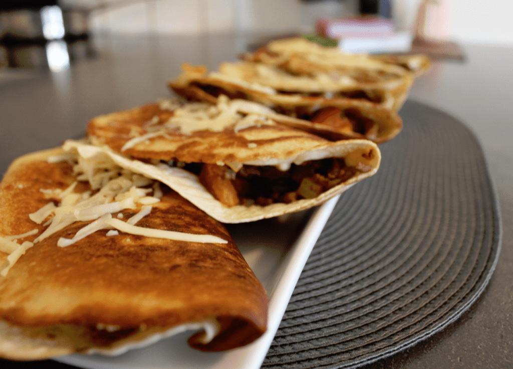Quesadilla - klar til servering