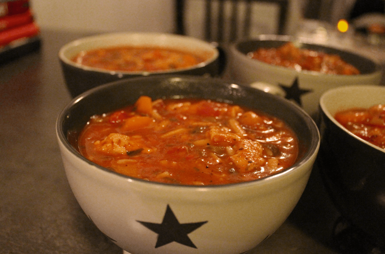 Fyldig suppe som metter