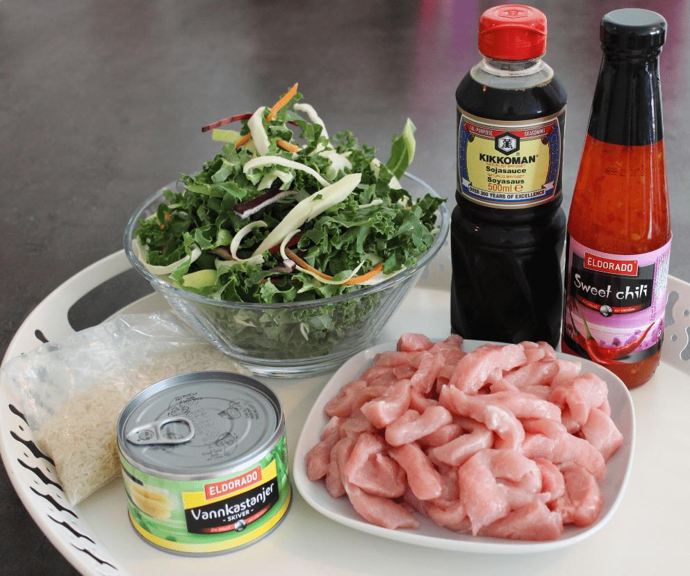 Wok - ingredienser
