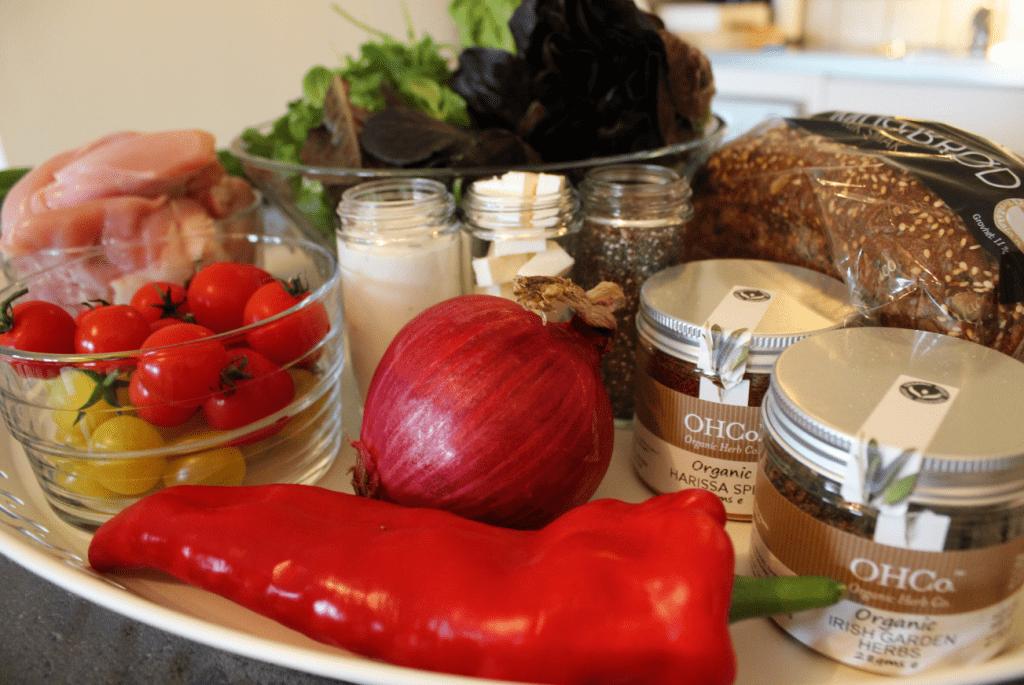 Kyllingsalat - ingredienser