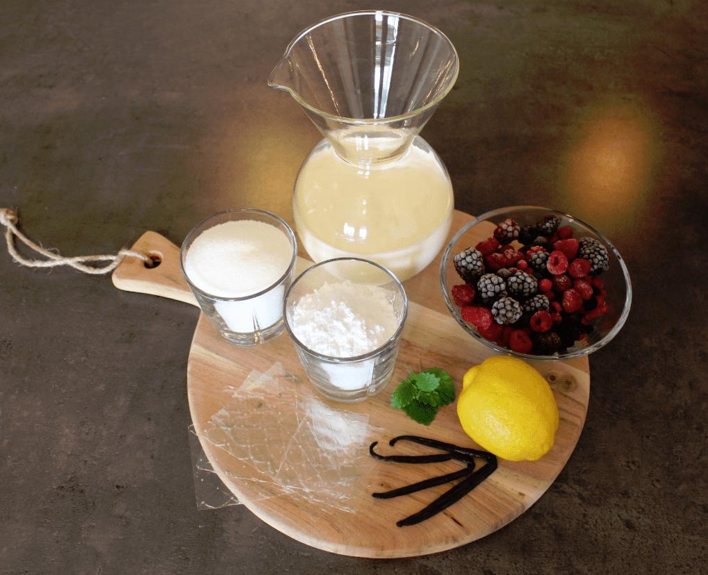 Panna cotta - ingredienser