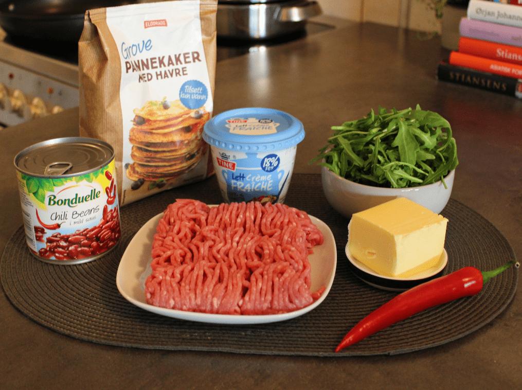 Fylte pannekaker - ingredienser