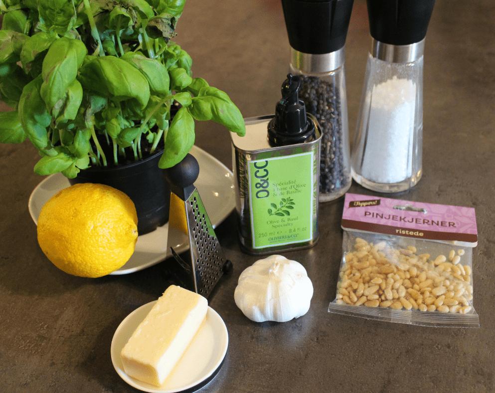Pesto - ingredienser