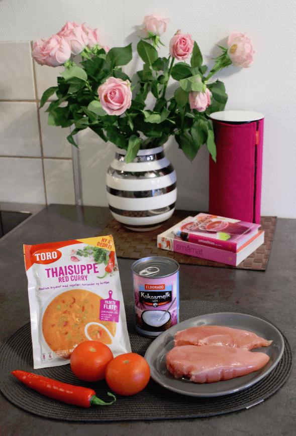 Thaisuppe fra juks - posesuppe